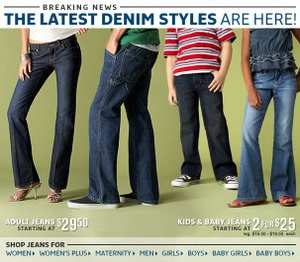 15% off adult denim with code DENIM15